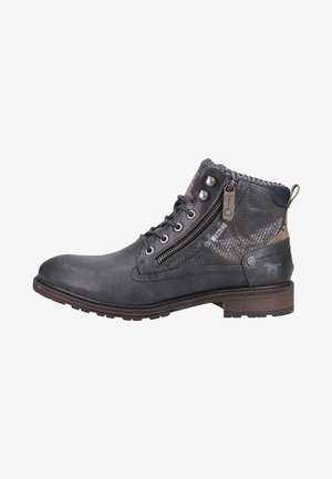 Lace-up ankle boots - graphite