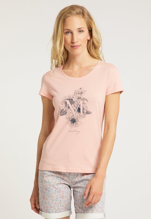ALEXIA C  - T-Shirt print - pink
