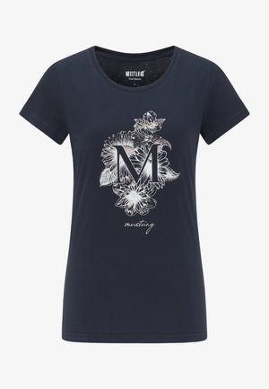 ALEXIA C  - Print T-shirt - dark blue
