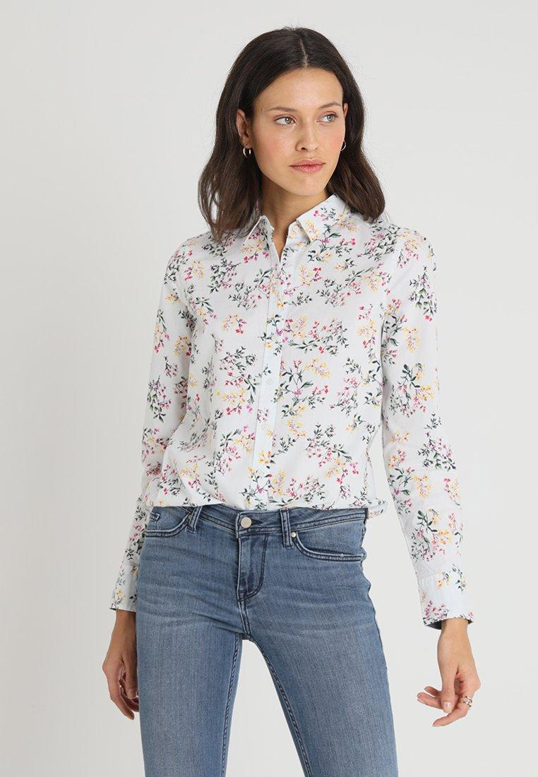 Mustang - FLOWER BLOUSE - Button-down blouse - white/multicolor