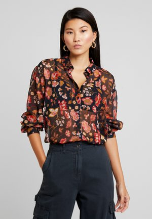 EDDA RELAXED - Camicia - black/multi-coloured