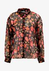 Mustang - EDDA RELAXED - Button-down blouse - black/multi-coloured