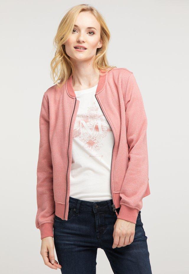 Sweatjacke - rosa