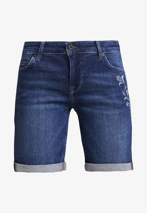 BERMUDA - Jeansshorts - dark blue denim