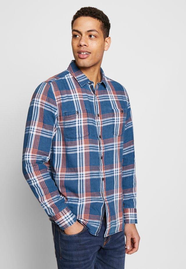 CLEMENS  - Shirt - check indigo