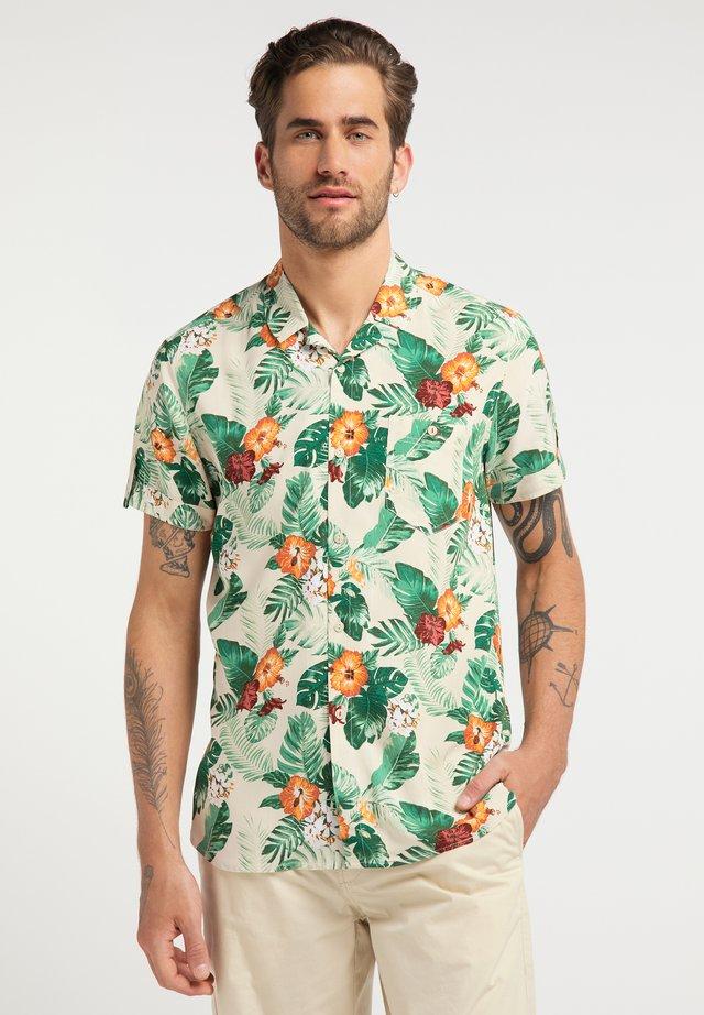 HEMD CHRIS FLOWER AOP - Shirt - braun