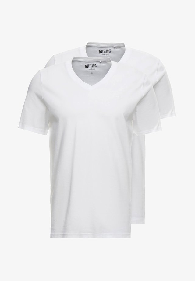 2-PACK V-NECK - T-shirts basic - general white