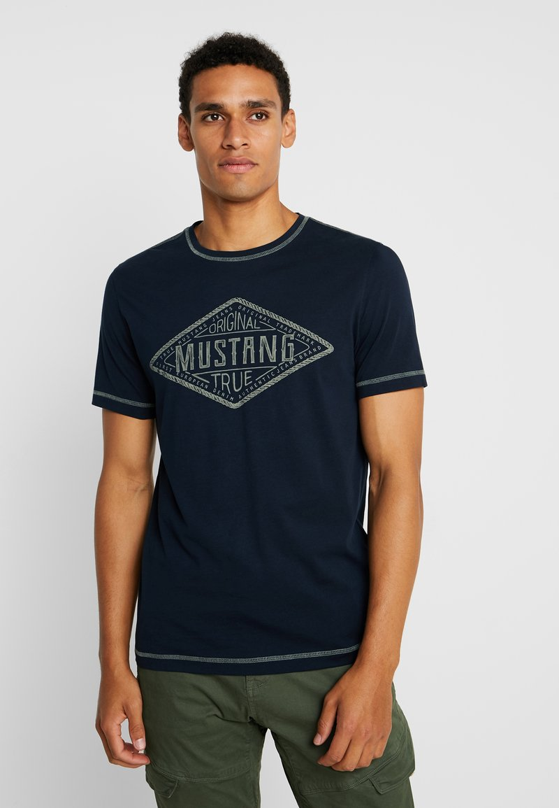 Mustang - ALEX - Print T-shirt - dark saphire