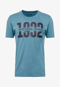 Mustang - ALEX  - T-shirt con stampa - aegean blue - 3