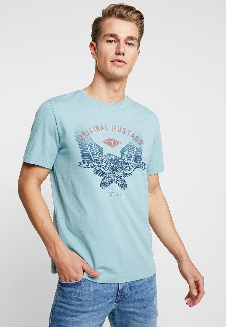 Mustang - EAGLE TEE - T-Shirt print - tourmaline