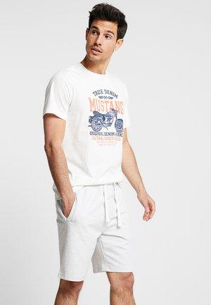 MOTORBIKE TEE - T-shirt imprimé - cloud dancer