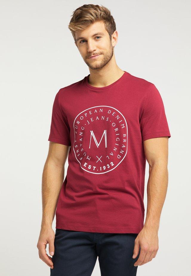ALEX - Print T-shirt - red