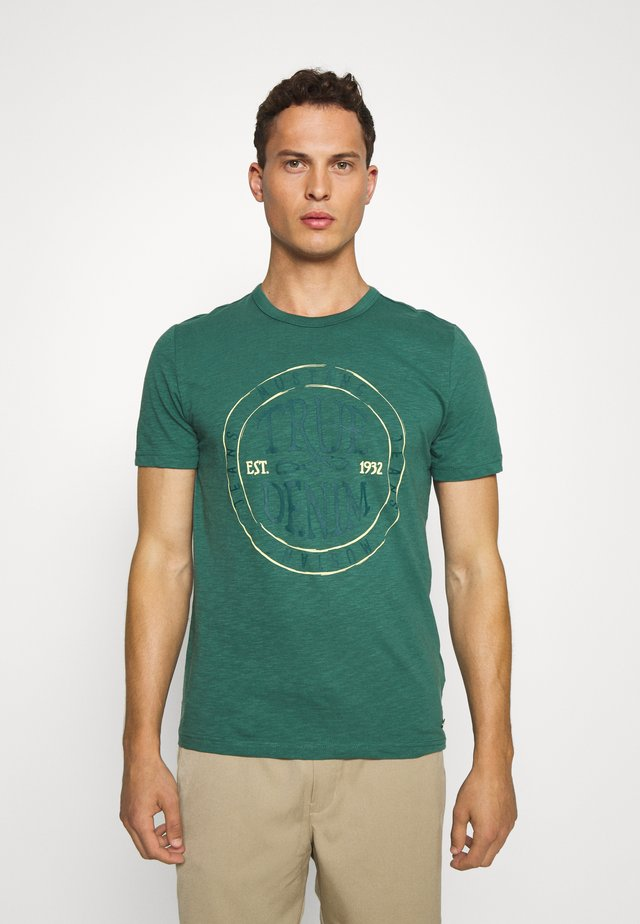 ALEX - Printtipaita - mallard green