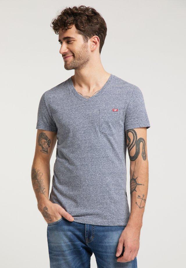 AARON  - Basic T-shirt - dark blue