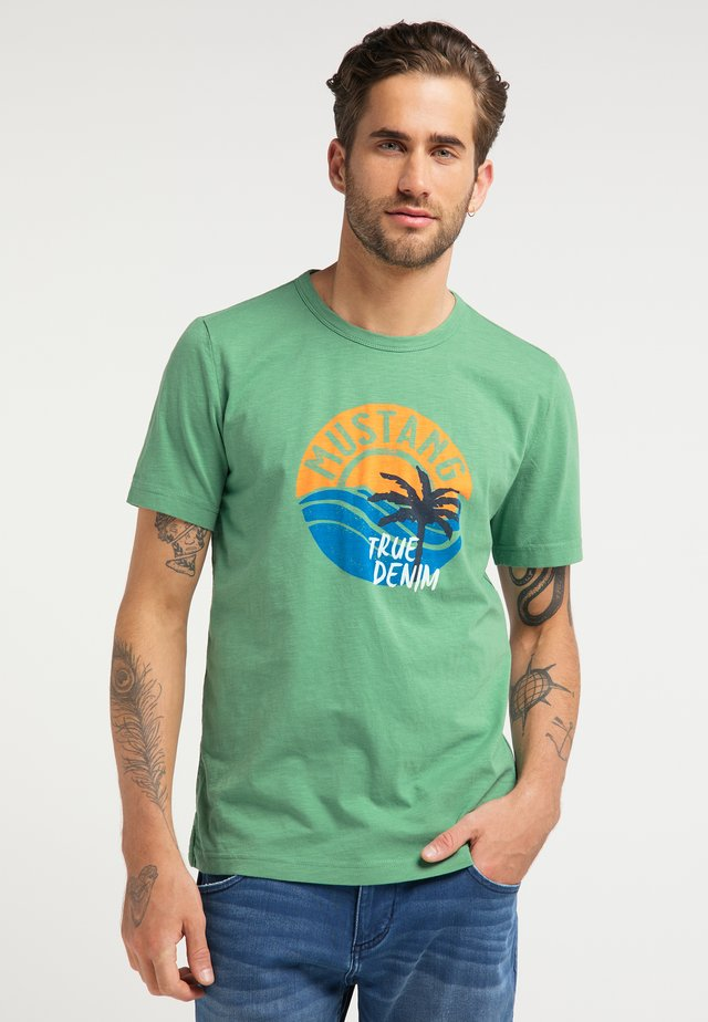 ALEX C PRINT - Print T-shirt - grün