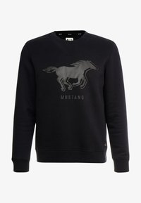 Mustang - BEN LOGOPRINT - Sweatshirt - caviar - 3