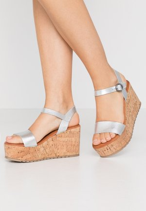 OMINI - High heeled sandals - silver