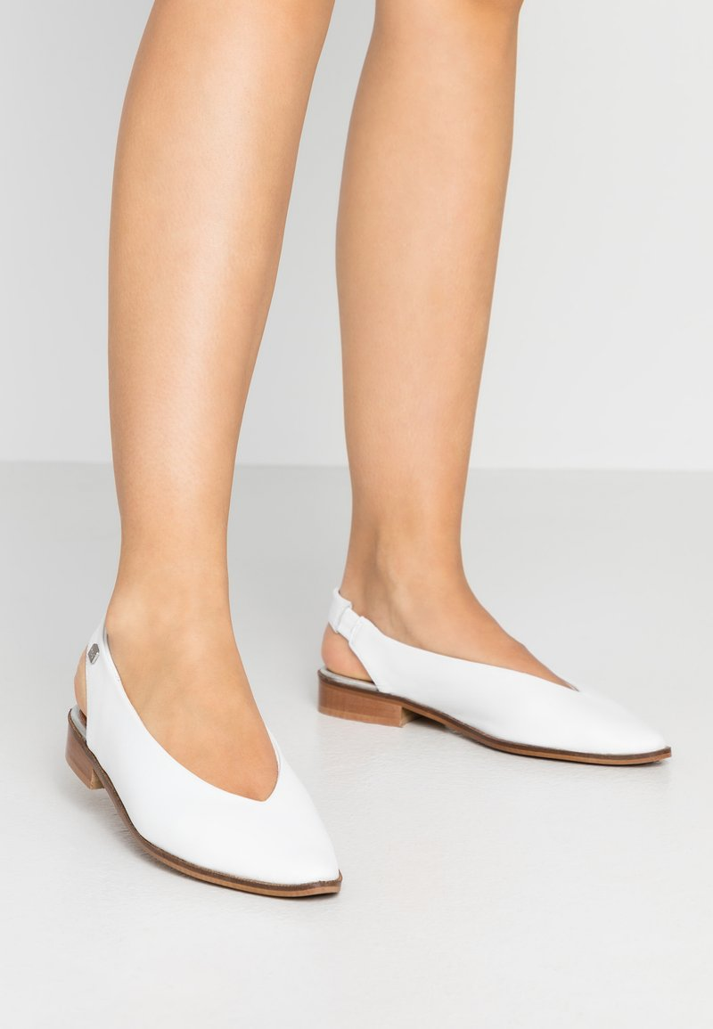 Musse & Cloud - SILA - Slingback ballet pumps - white