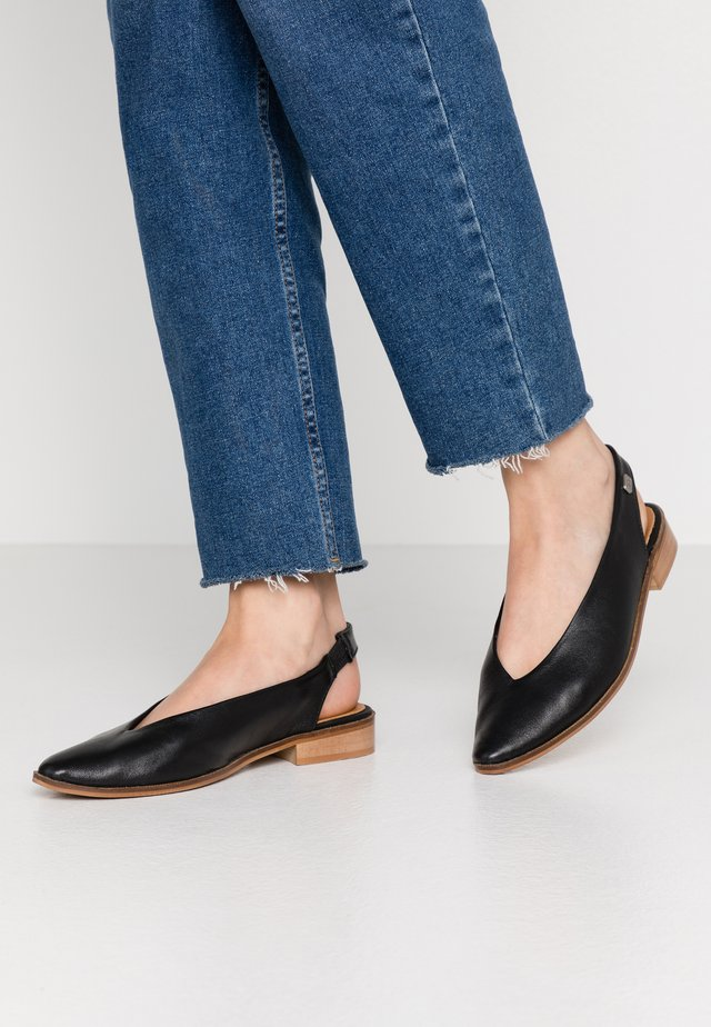 SILA - Slingback ballet pumps - black