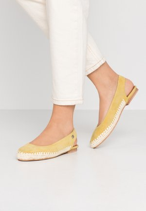 ZENON - Slingback ballet pumps - yellow