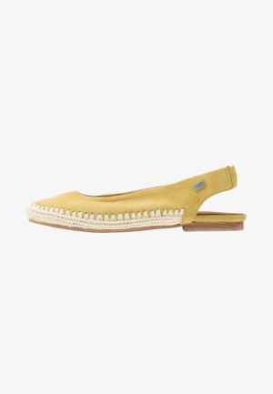 ZENON - Slingback ballet pumps - yellow
