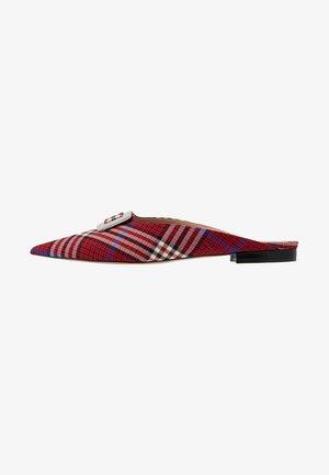 Pantofle - rosso/nero
