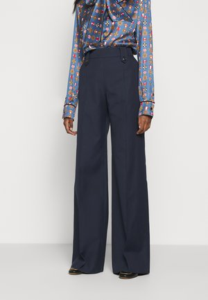 GRETTA TROUSERS  - Spodnie materiałowe - dark blue