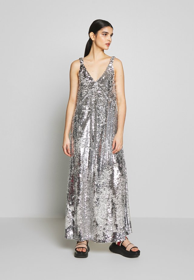 KELSEY DRESS - Occasion wear - silver