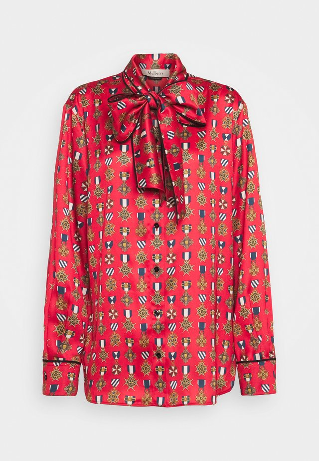 OTTILIE BLOUSE - Button-down blouse - medium red
