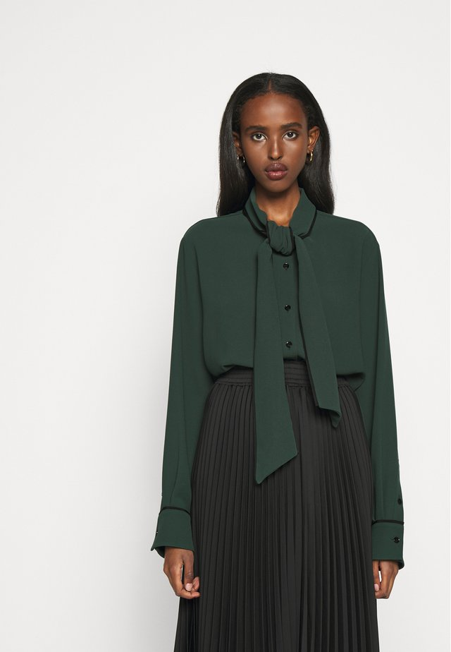 OTTILIE BLOUSE - Button-down blouse - dark green