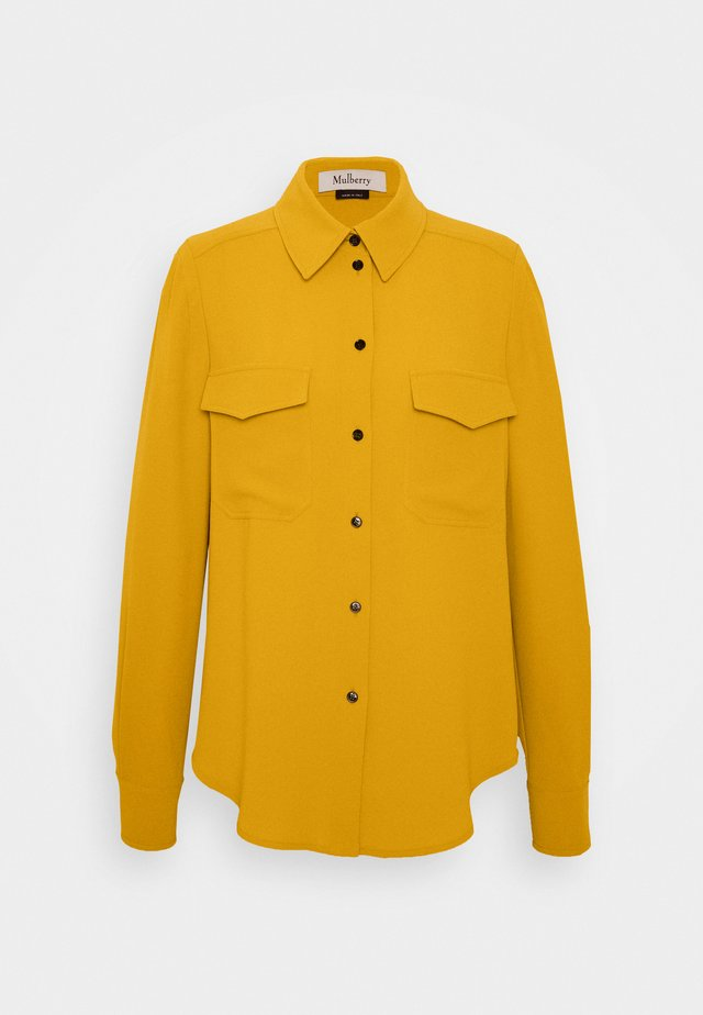 POPPIE - Button-down blouse - medium yellow