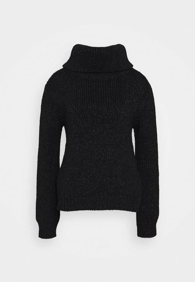 MAY ROLL NECK - Sweter - black