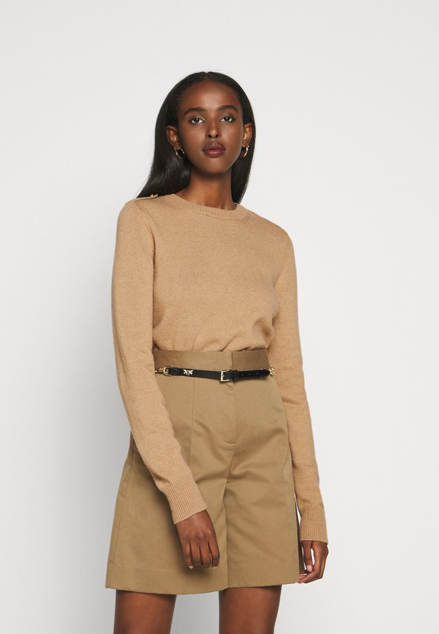 NANCIE CREW NECK JUMPER - Strikkegenser - dark beige