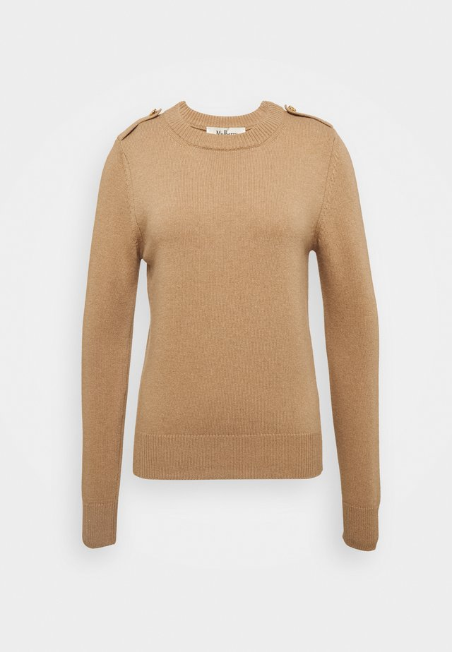 NANCIE CREW NECK JUMPER - Sweter - dark beige