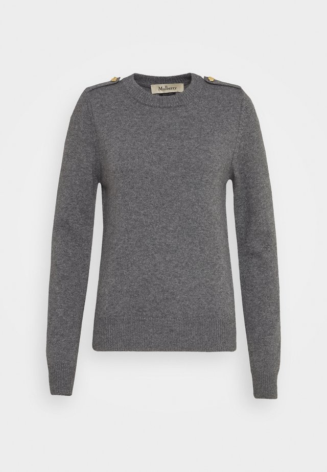 NANCIE CREW NECK JUMPER - Sweter - charcoal