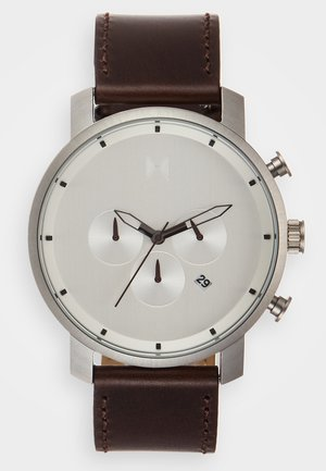 Chronograph watch - silver-coloured/brown