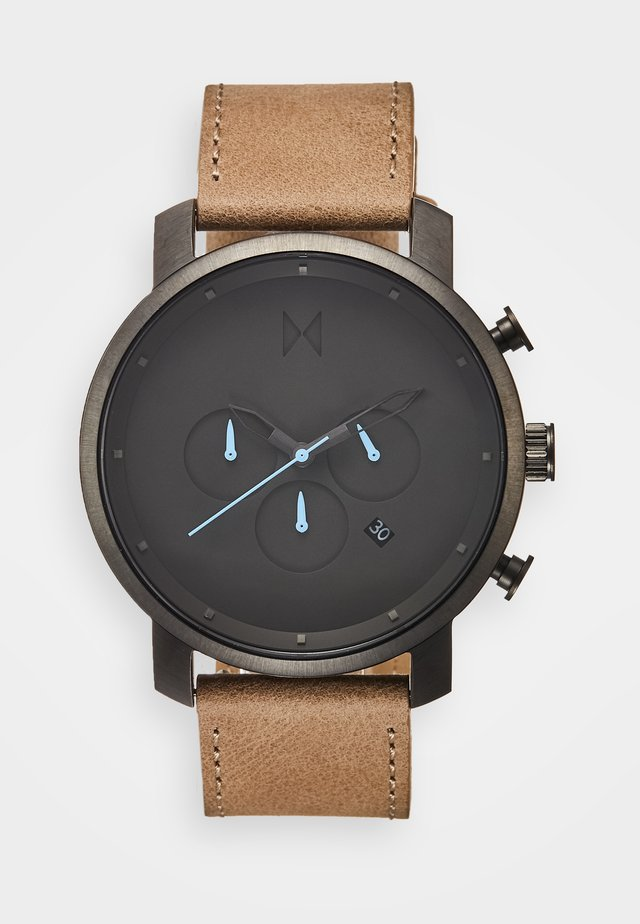 CHRONO 45 - Chronograph watch - gunmetal/sandstone