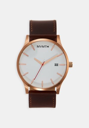CLASSIC - Watch - rose gold-coloured/natural tan