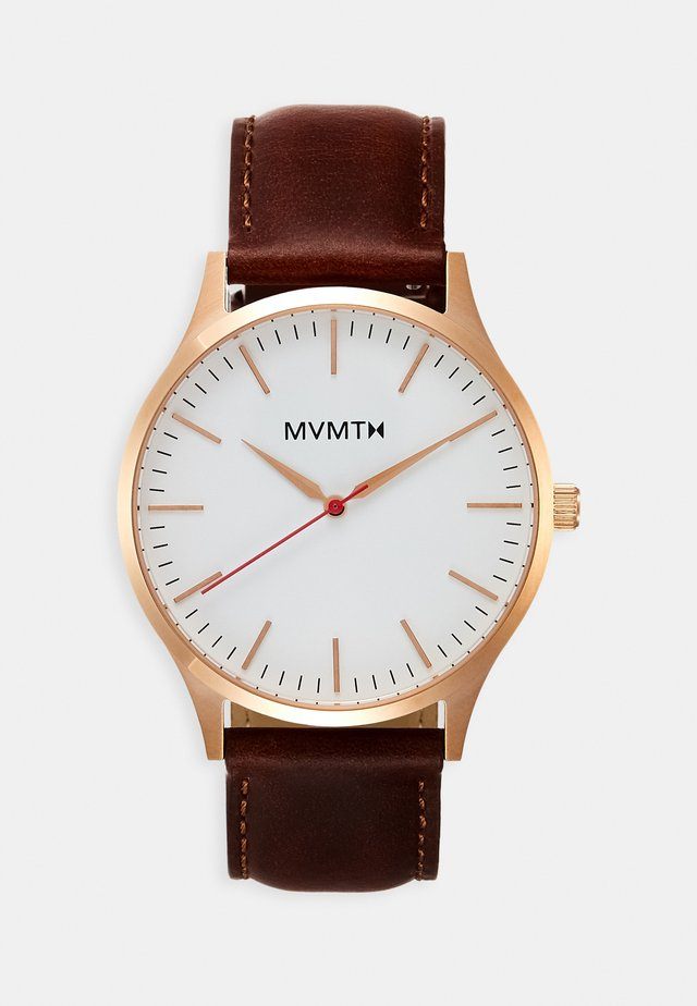 Watch - rose gold-coloured/natural tan