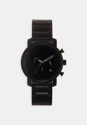 Chronograph watch - black link