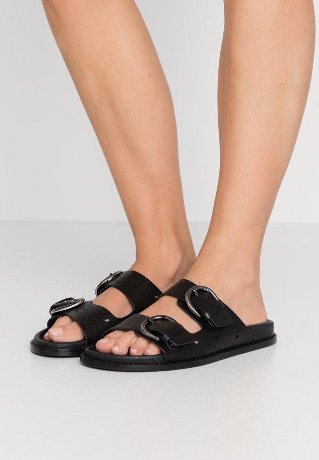 FERRO - Pantolette flach - schwarz