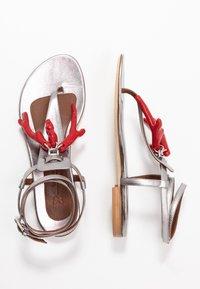 WEEKEND MaxMara - DOMEZ - Sandály s odděleným palcem - silber - 3