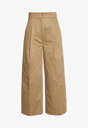 VELIA - Spodnie materiałowe - erde