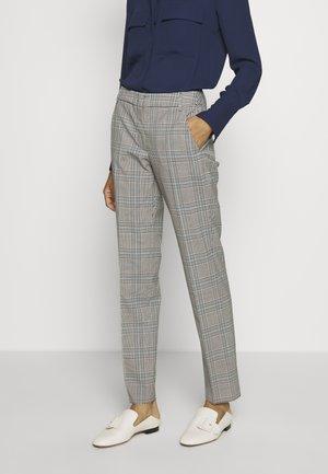 CINGHIA - Trousers - galles bianco/nero/marrone
