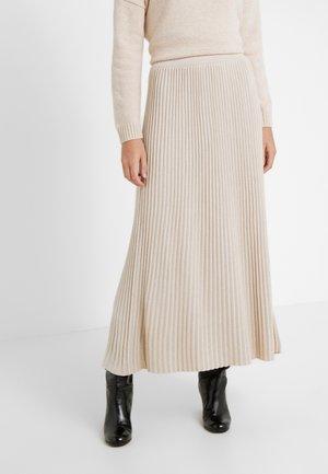 SCILLA - Pleated skirt - beige