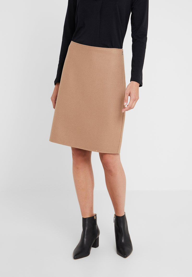 WEEKEND MaxMara - VONGOLA - A-line skirt - kamel