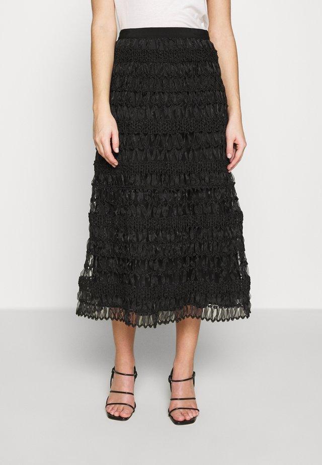 SEGALE - A-line skirt - schwarz
