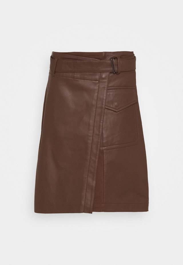 VENEZIA - Áčková sukně - bronze