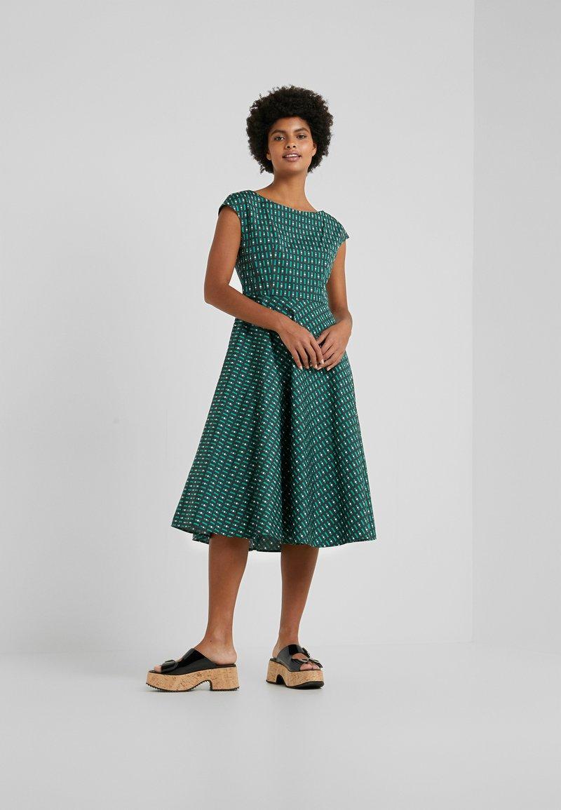 WEEKEND MaxMara - PIREO - Day dress - dark green/white/black