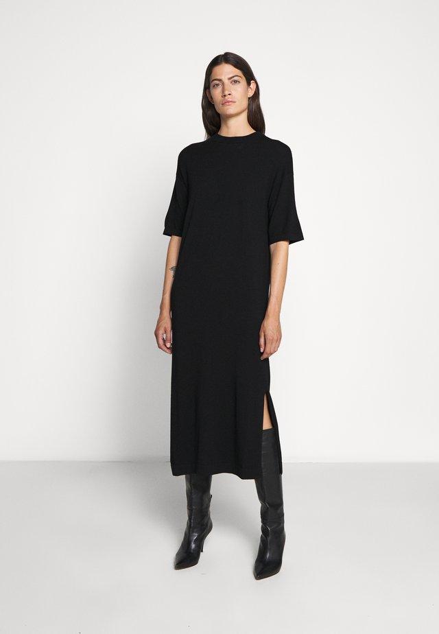 ONDA - Stickad klänning - schwarz